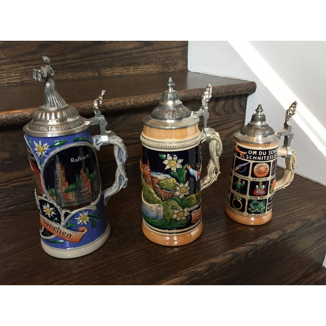 Limited Editon Thewalt Porcelain Beer Steins - Set of 3 For Sale - Image 13 of 13