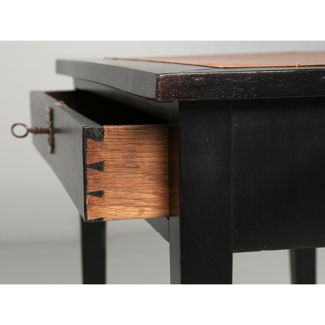 Antique French Ebonized Writing Table For Sale In Chicago - Image 6 of 11