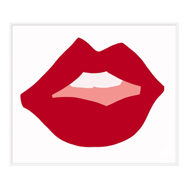 "XL ""Kiss Me (Red)"" Print by Angela Chrusciaki Blehm, 48"" X 58"" For Sale"