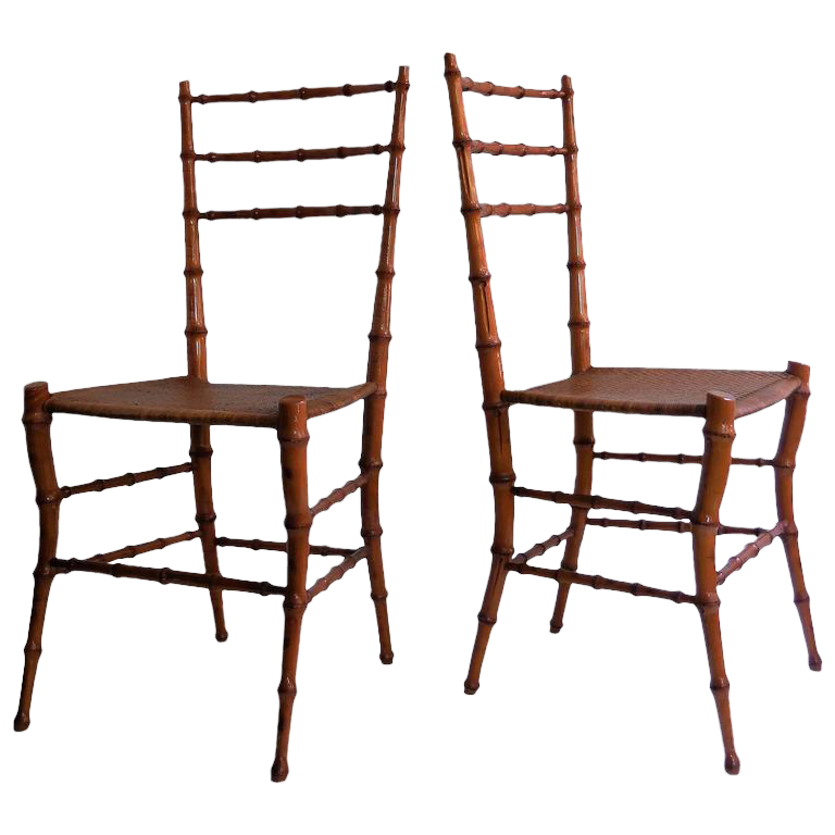 Exceptionnel Faux Bamboo Chairs   A Pair For Sale