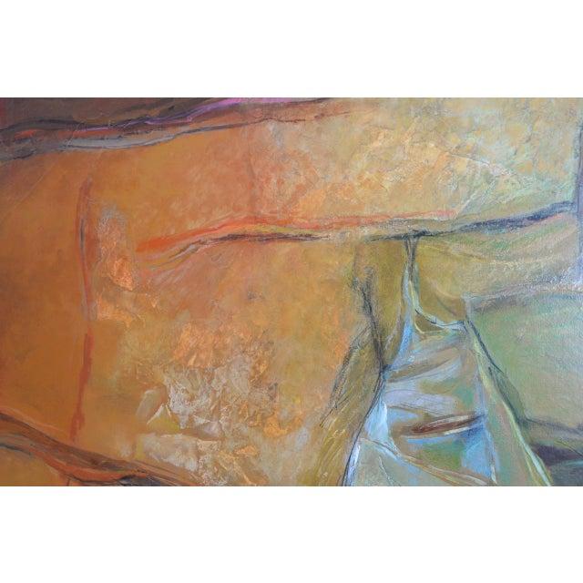 "Alexander Nepote ""Summit Bluff"" Monumental Modernist Landscape C.1970 For Sale - Image 11 of 12"