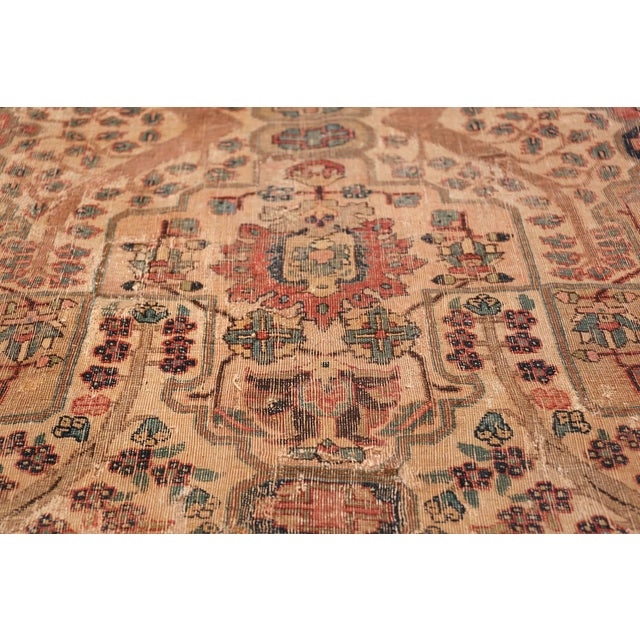 17th Century Small Size Persian Khorassan Rug For Sale - Image 9 of 13