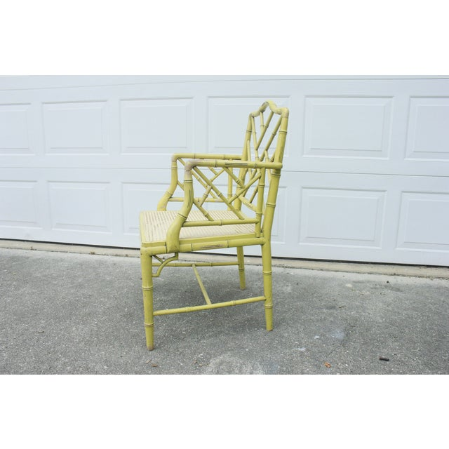 Chippendale Faux-Bamboo Fretwork Armchair - Image 6 of 8