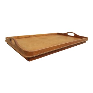 1960s Mid-Century Scandinavian Modern Goodwood Teak Bed Tray With Handles For Sale