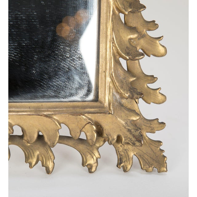 Italian Rococo Style Gilt Wood Vanity Mirror For Sale In New York - Image 6 of 8