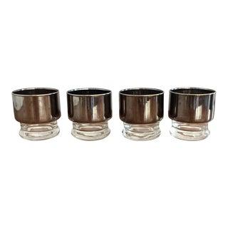 Vintage Silver Mirrored Glassware- Set of 4