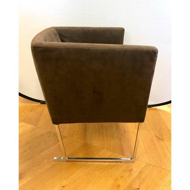 Antonio Citterio B&b Italia Atonio Citterio Brown Suede Armchair For Sale - Image 4 of 6