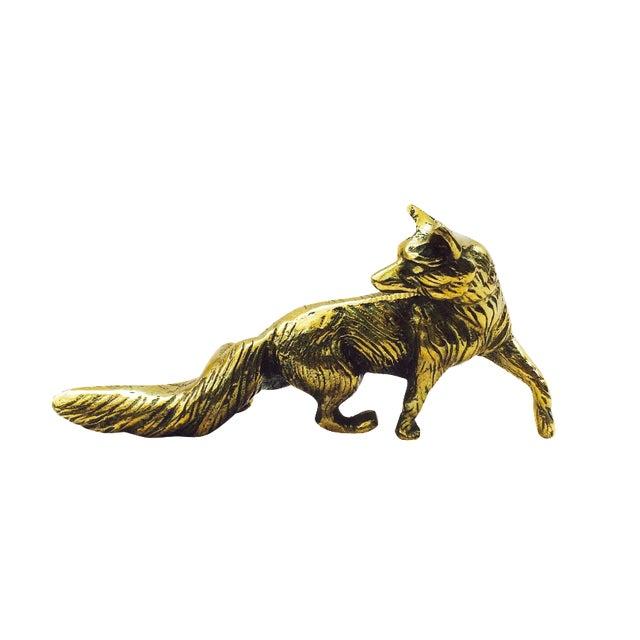 Vintage Brass Fox Statue - Image 1 of 6