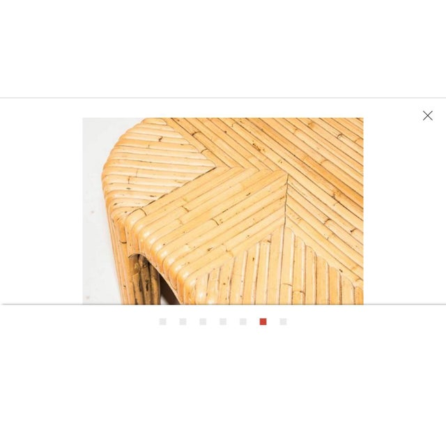 1960s Italian Midcentury Bamboo Coffee Table For Sale In Chicago - Image 6 of 7