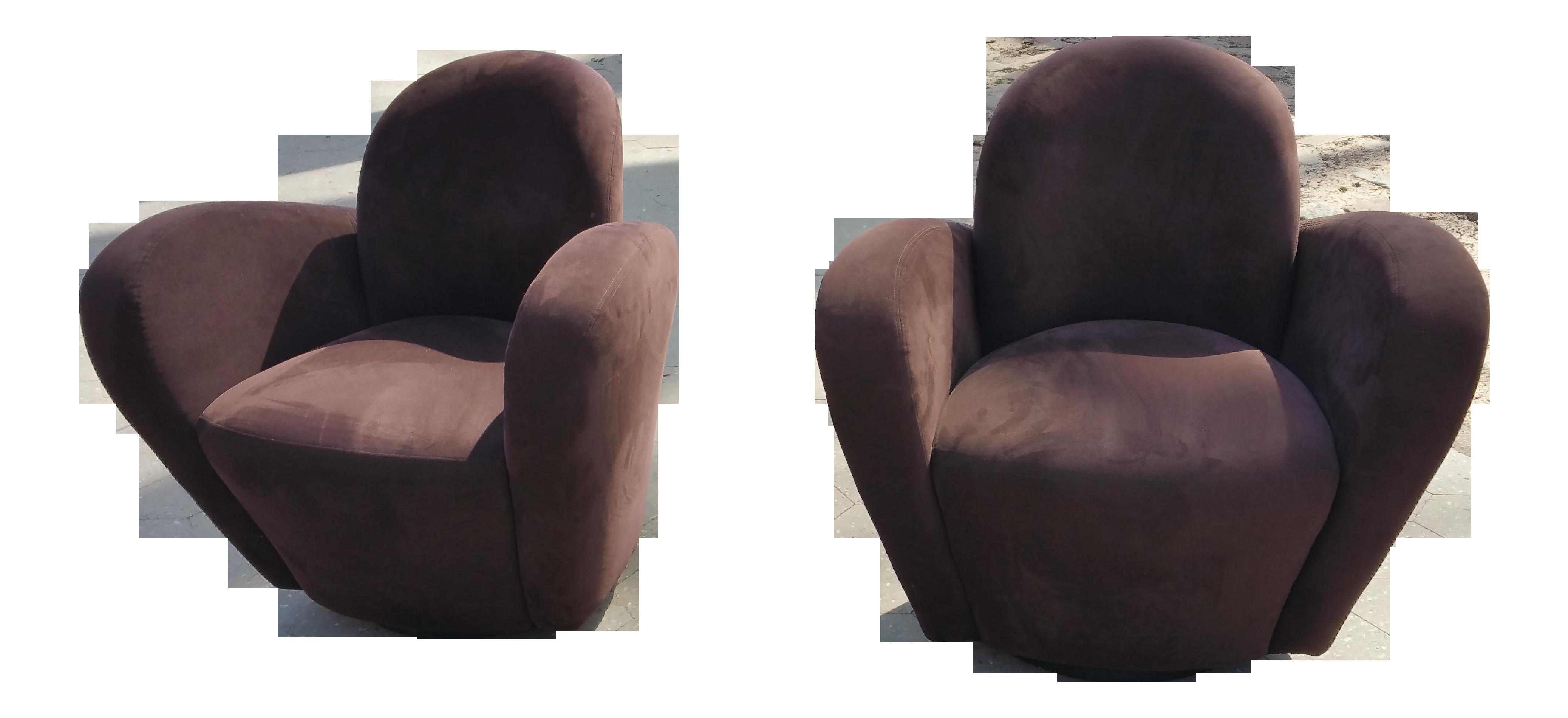 Rare Vladimir Kagan Wrap Around Swivel Barrel Chairs - a Pair  sc 1 st  Chairish & Rare Vladimir Kagan Wrap Around Swivel Barrel Chairs - a Pair | Chairish