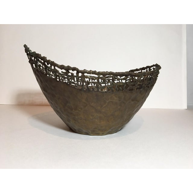 Brutalist Circa 1950 Marcello Fantoni Italian Brutalist Style Copper Bowl For Sale - Image 3 of 11