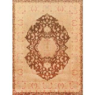 """Pasargad Tabriz Silk & Wool Rug - 8' 7"""" X 11' 4"""" For Sale"""