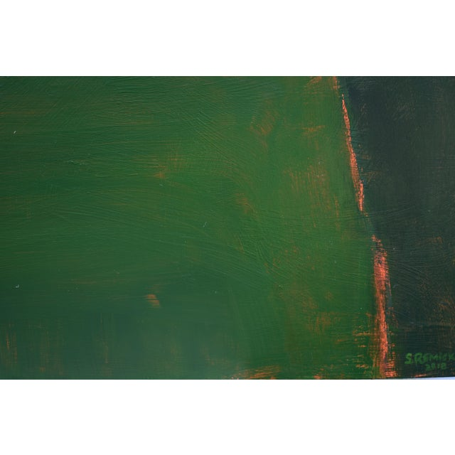 "Stephen Remick Stephen Remick ""Field Rising at Sunset"" Contemporary Abstract Painting For Sale - Image 4 of 9"