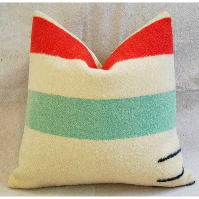 Multi-Striped Hudson's Bay Blanket Pillow - Image 2 of 6