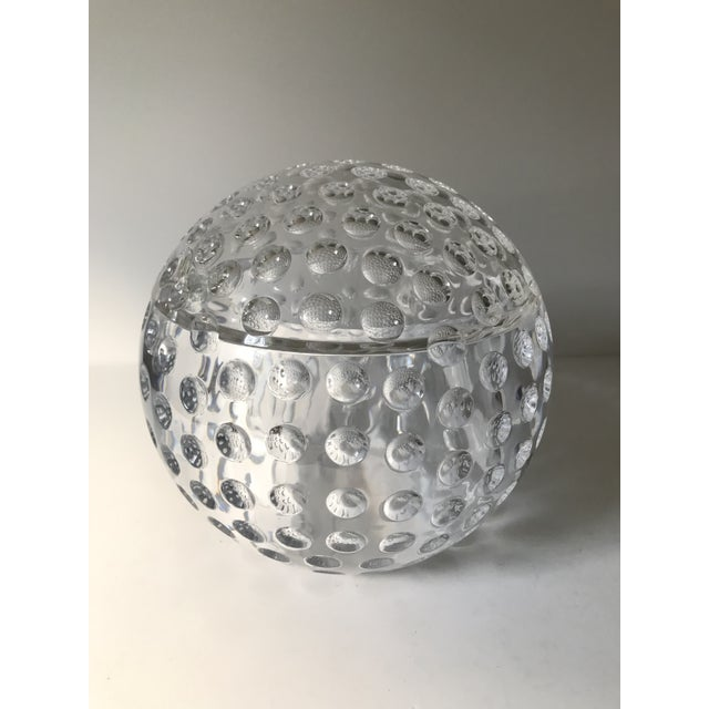Vintage Lucite Sphere Ice Bucket For Sale In Chicago - Image 6 of 6