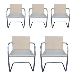 Brno Chairs by Ludwig Mies van der Rohe for Knoll - Set of 5 For Sale