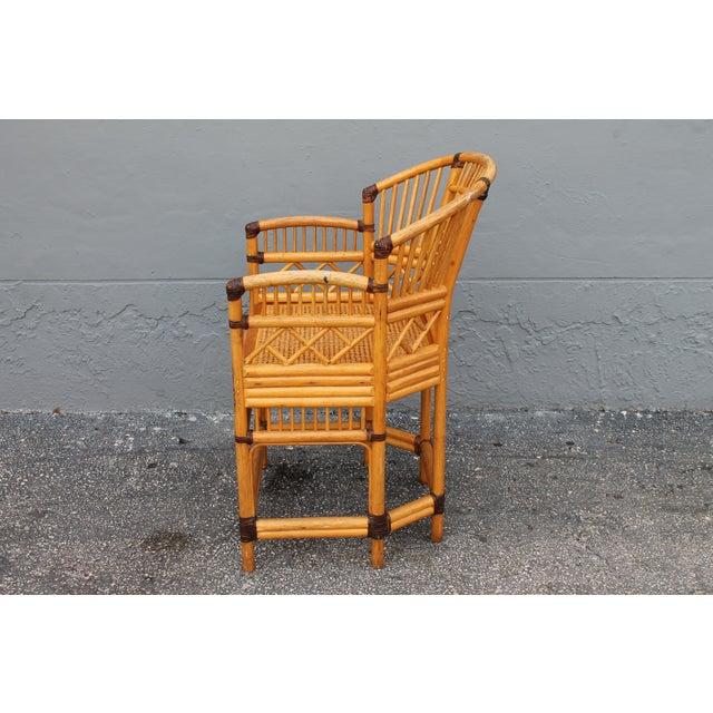 1960s Vintage Palm Beach Regency Rattan Armchair For Sale - Image 5 of 11