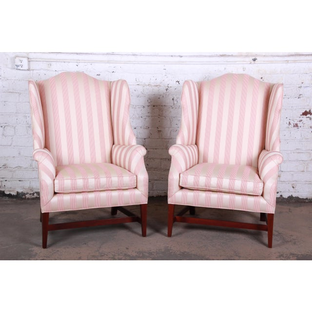 Baker Furniture Company Baker Furniture Wingback Lounge Chair For Sale - Image 4 of 6
