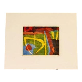 20th Century Vintage Original Lithograph Print Series 2 of 6 by Jerry Opper For Sale