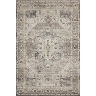 """Loloi Rugs Hathaway Grey Area Rug- 2'-6"""" x 7'-6"""" For Sale"""