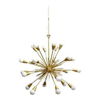 Vintage Mid-Century Modern Brass Sputnik Chandelier For Sale