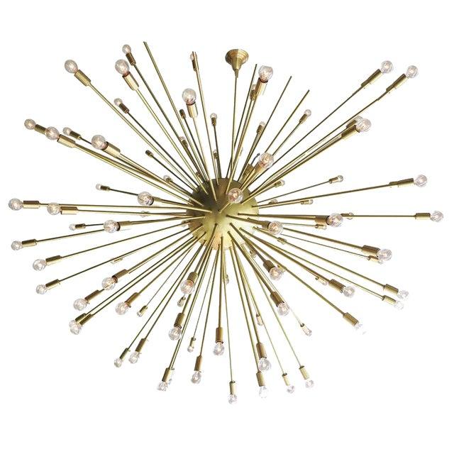 Mid-Century Style Brass Sputnik Chandelier For Sale - Image 9 of 9