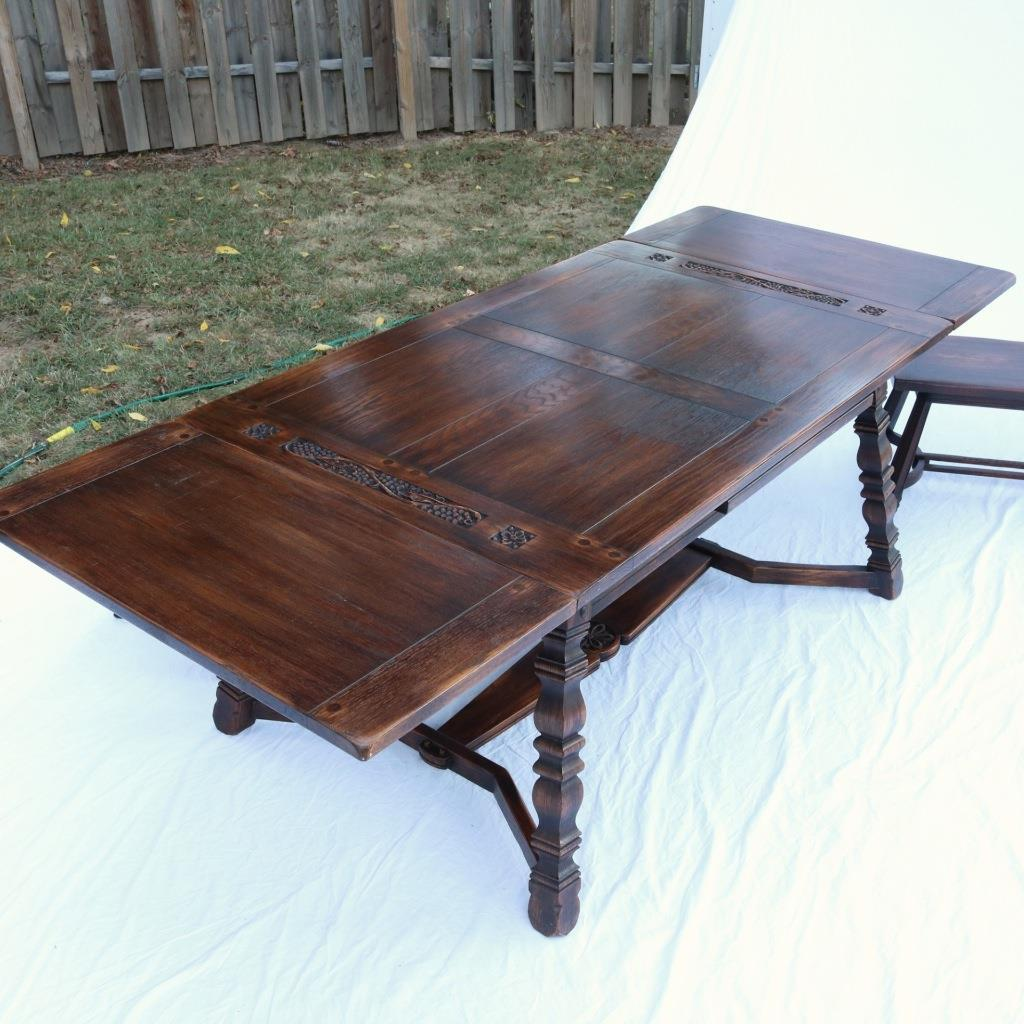1930s Romweber Dining Table With 2 Benches   Image 8 Of 11