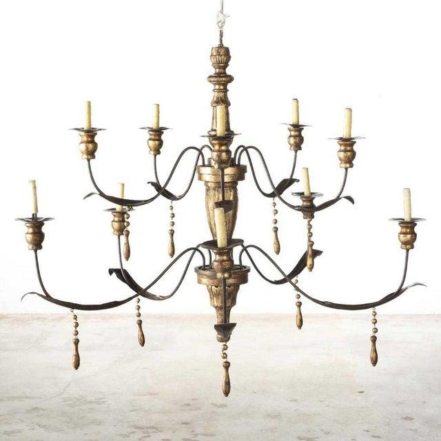 Baroque Niermann Weeks Italian Baroque Style 12 Light Chandelier For Sale - Image 3 of 3