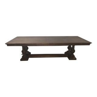 Rustic Restoration Hardware St. James Rectangular Extension Dining Table For Sale