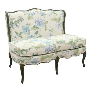 French Provencal Style Floral Settee