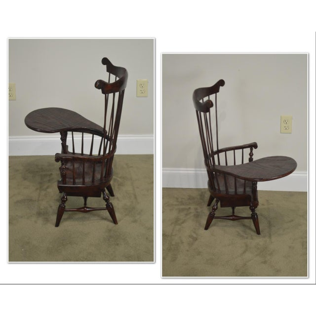 *STORE ITEM #: 19055 Windsor Style Miniature Childs Writing Arm Chair by K. Malone (18th Century Reproduction) AGE /...