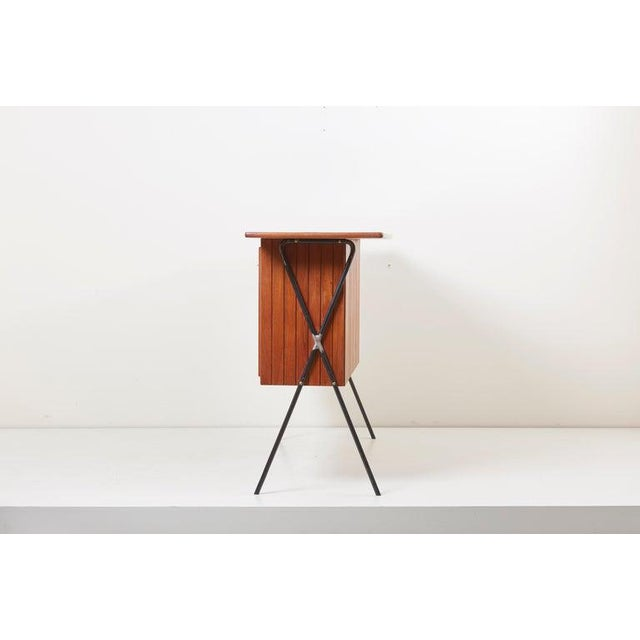 House Bar and Four Bar Stools by Prof. Herta-Maria Witzemann for Erwin Behr For Sale - Image 12 of 13