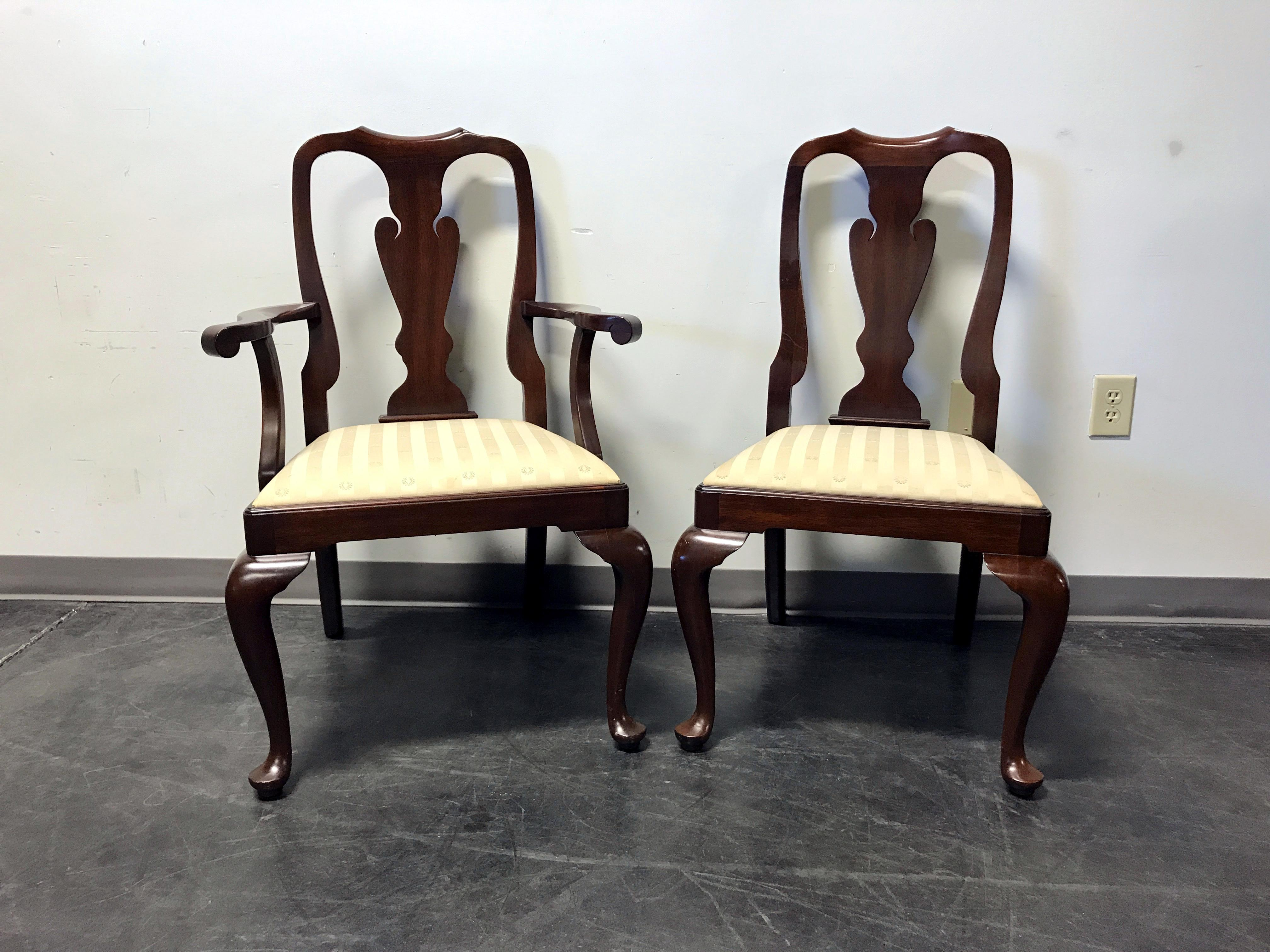 Superb Henkel Harris Mahogany Queen Anne Dining Chairs   Set Of 6   Image 4 Of 11