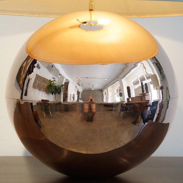 Mid-Century Modern 1970s Karl Springer Copper Orb Table Lamp For Sale - Image 3 of 7