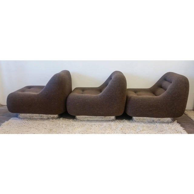 1970s M. F. Harty for Stow Davis Tomorrow Sofa Chairs and Table Suite - Set of 4 For Sale In Las Vegas - Image 6 of 11
