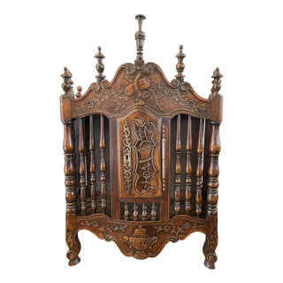 19th Century French Walnut Panettiere For Sale