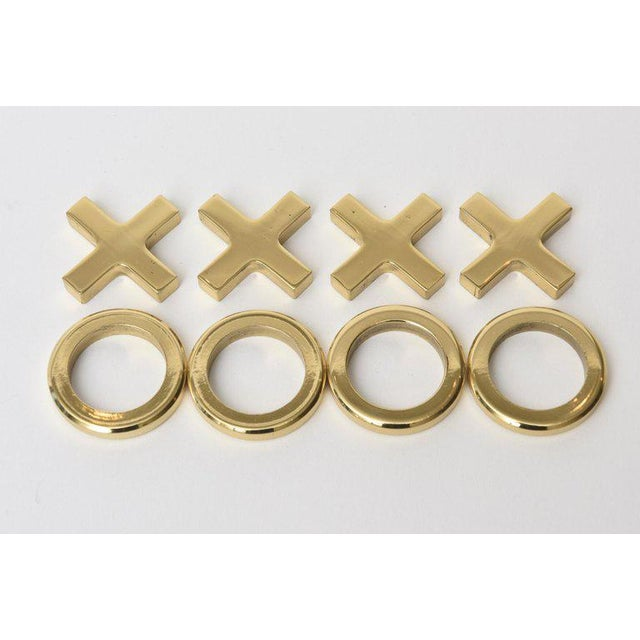 1950s Brass Tic Tac Toe Game Mid-Century Modern For Sale - Image 5 of 9