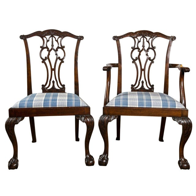 Chippendale Dining Chairs - Set of 8 - Image 1 of 9