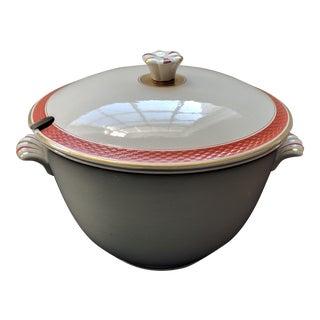 Vintage Danish Casserole Dish by Nils Thorsson - Aluminia Royal Copenhagen