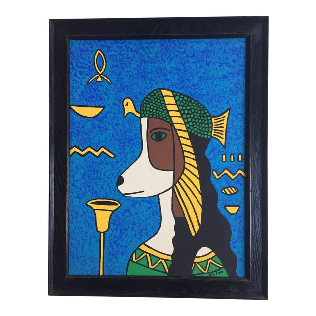 Cleopatra Hound Original Painting by B.D.Floyd For Sale