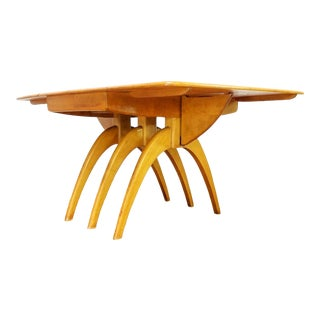 1950s Mid Century Modern Heywood Wakefield Wishbone Butterfly Table For Sale