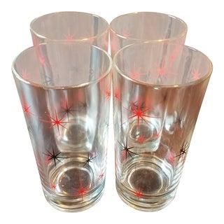 Mid-Century Modern Starburst Drinking Glasses-Set of 4 For Sale
