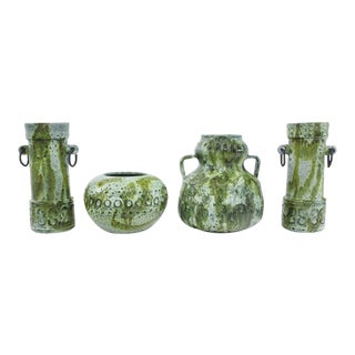 Mid-Century Modern Earthenware Vessels by Alvino Bagni - Set of 4 For Sale