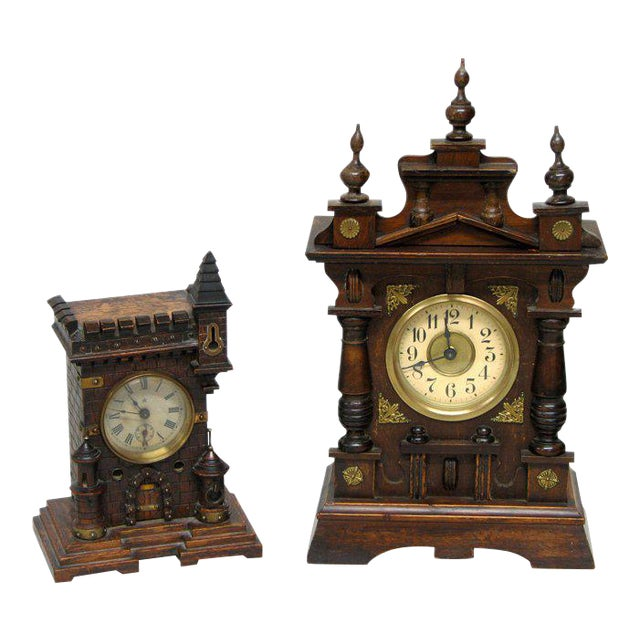 Two 19th Century Black Forest Clocks For Sale