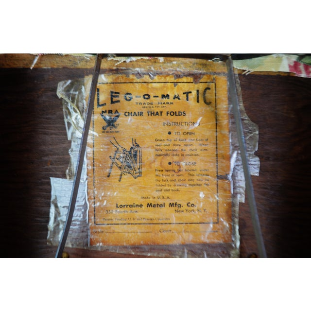 Vintage Leg O Matic Folding Chair For Sale - Image 11 of 11