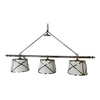 Visual Comfort 3 Light Kitchen Light Fixture For Sale