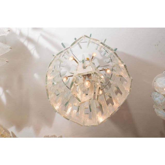 """Venfield Iridescent """"C"""" Link Glass Chandelier For Sale - Image 4 of 6"""