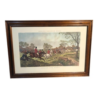 "Herrings Fox Hunting Scenes Lithograph ""End of the Hunt"" For Sale"