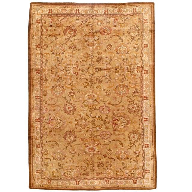 Antique English Axminster Carpet For Sale