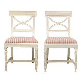 1980s Gustavian Bellman Chairs - Pair For Sale